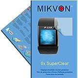 6x Mikvon pellicole proteggi-schermo SuperClear per Polar M600 - trasparenti - Pellicola prottetiva Made in Germany