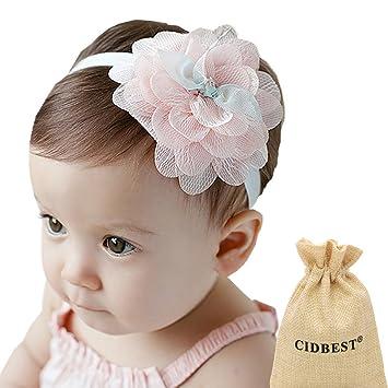 Clever Stirnband Blüten Haarband Baby Mädchen Taufe Haarschmuck Kopfband Handarbeit Haarschmuck Kleidung, Schuhe & Accessoires