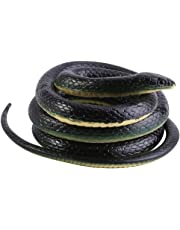 Realistic Soft Rubber Snake Garden Props Funny Joke Prank Toy Gift 51 Inch Long