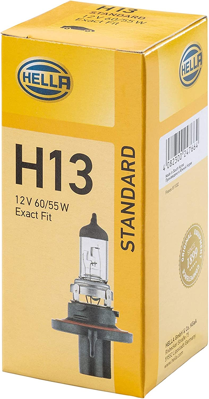 HELLA 8GJ 008 837-121 Glühlampe - H13 - Standard - 12V - 60/55W - Sockelausführung: P26,4t - Schachtel - Menge: 1