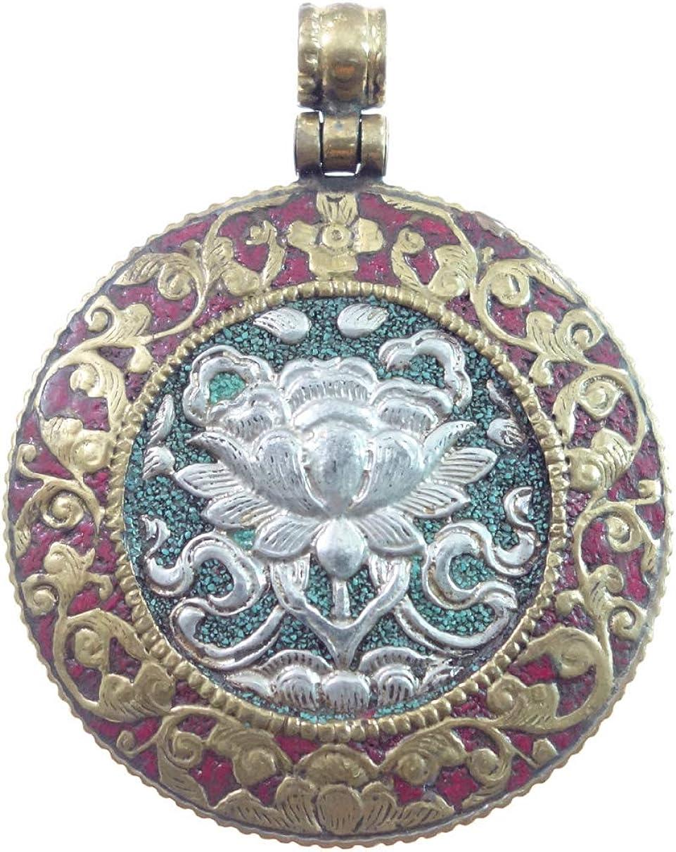 Real Tibetano Budista Bohemio Étnico Colgante Para Mujeres/Hombre, Chapado En Oro Natural Coral Y Turquesa Piedras Preciosas Diseñador Moderno Moda Boho Amuleto Joyería Hecha A Mano Por Artesanos