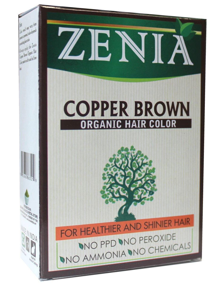 Zenia Organic Henna Hair Color Copper Brown 100g