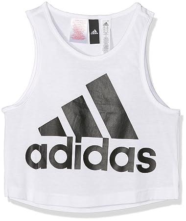adidas Mädchen Athletics Tanktop, WhiteBlack, 128: Amazon