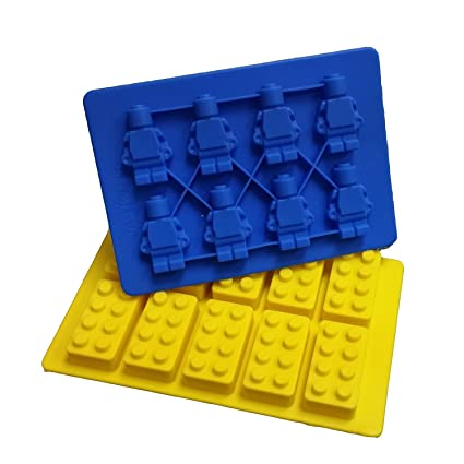 Amazon.com: Jollylife Building Bricks and Minifigure Ice Cube Tray ...