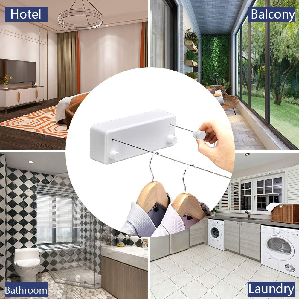 Homegear Retractable Outdoor Rotary Dryer Wall Mounted Washing Clothes Line