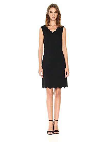 Nine West Womens A Line Scalloped Dress At Amazon Womens Clothing