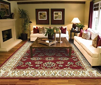 Traditional Area Rugs 2x3 Door Mat Indoor Red Small Rugs for Bedroom Prime  Rug