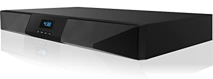 Sharper Image SBT2015BK Volta Bluetooth Sound System Base For TV, Built-In Subwoofer,