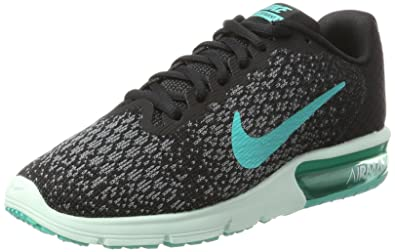 dfd5ef2c6ea894 Nike Women s Air Max Sequent 2 Running Shoe Black Clear Jade Anthracite Cool