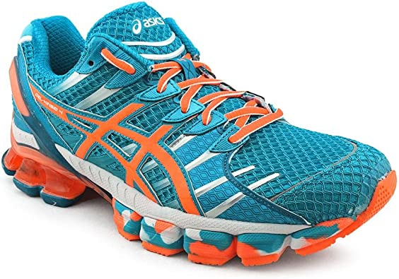 Asicsgel-Kinsei 4-M - Gel-Kinsei 4 Hombre, Azul (Azul/Blanco/Naranja), 43 EU: Amazon.es: Zapatos y complementos