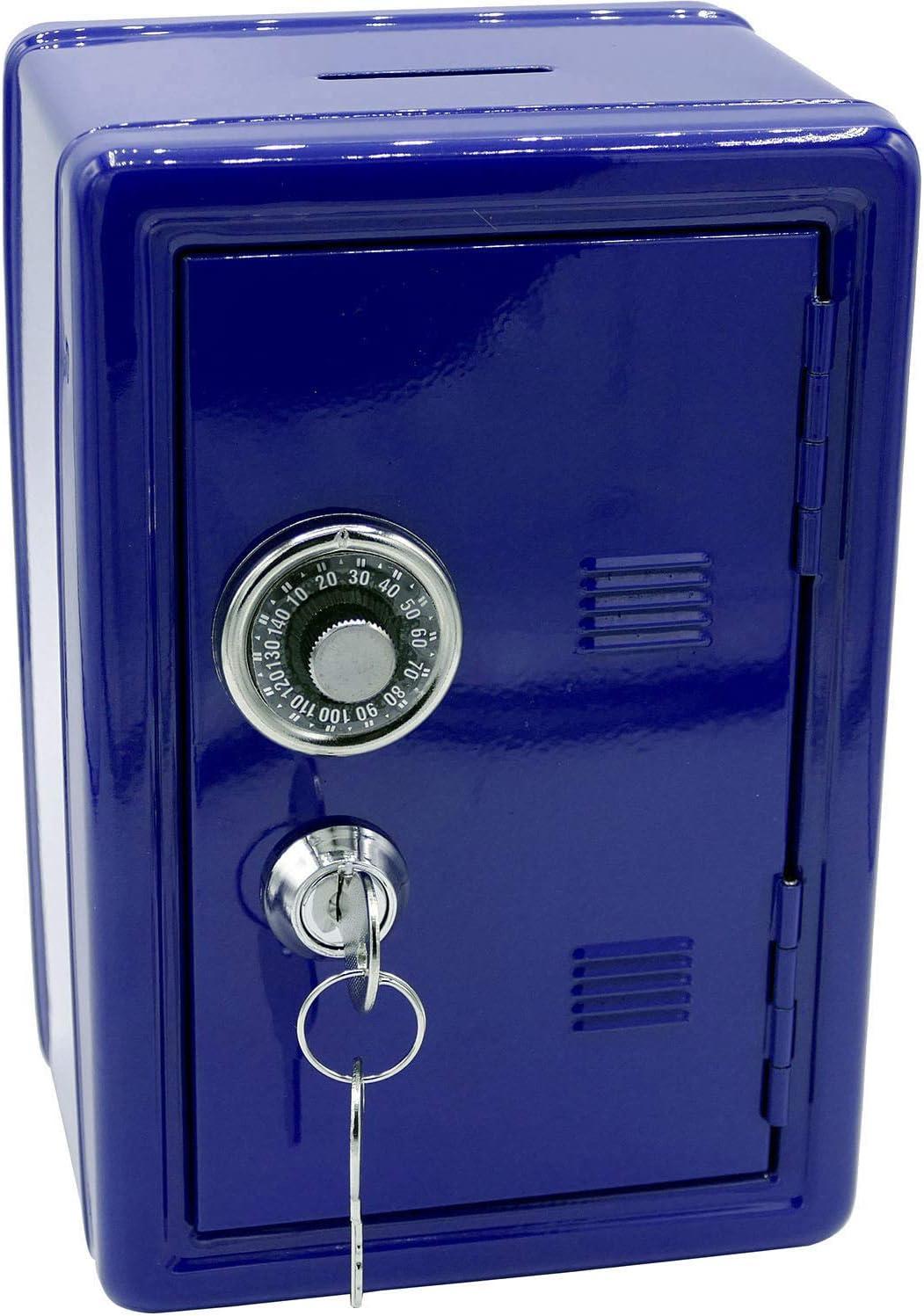 Hucha de Metal con forma de caja fuerte con llave