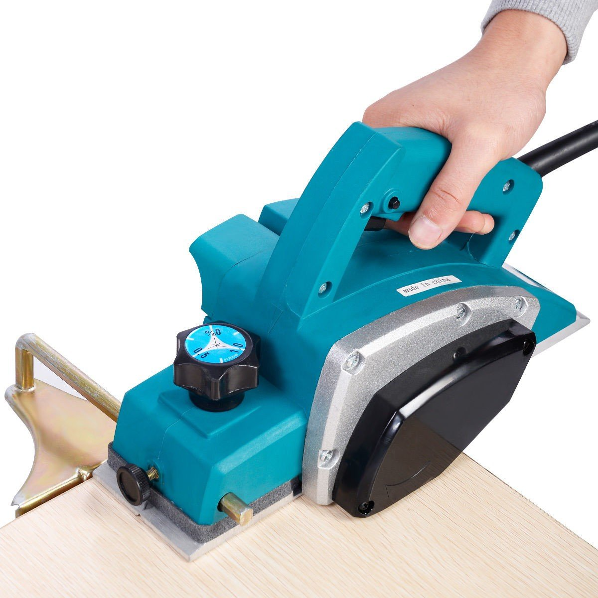 Gopus Powerful Electric Wood Planer Door Plane Hand Held Woodworking Surface New - By Choice Products