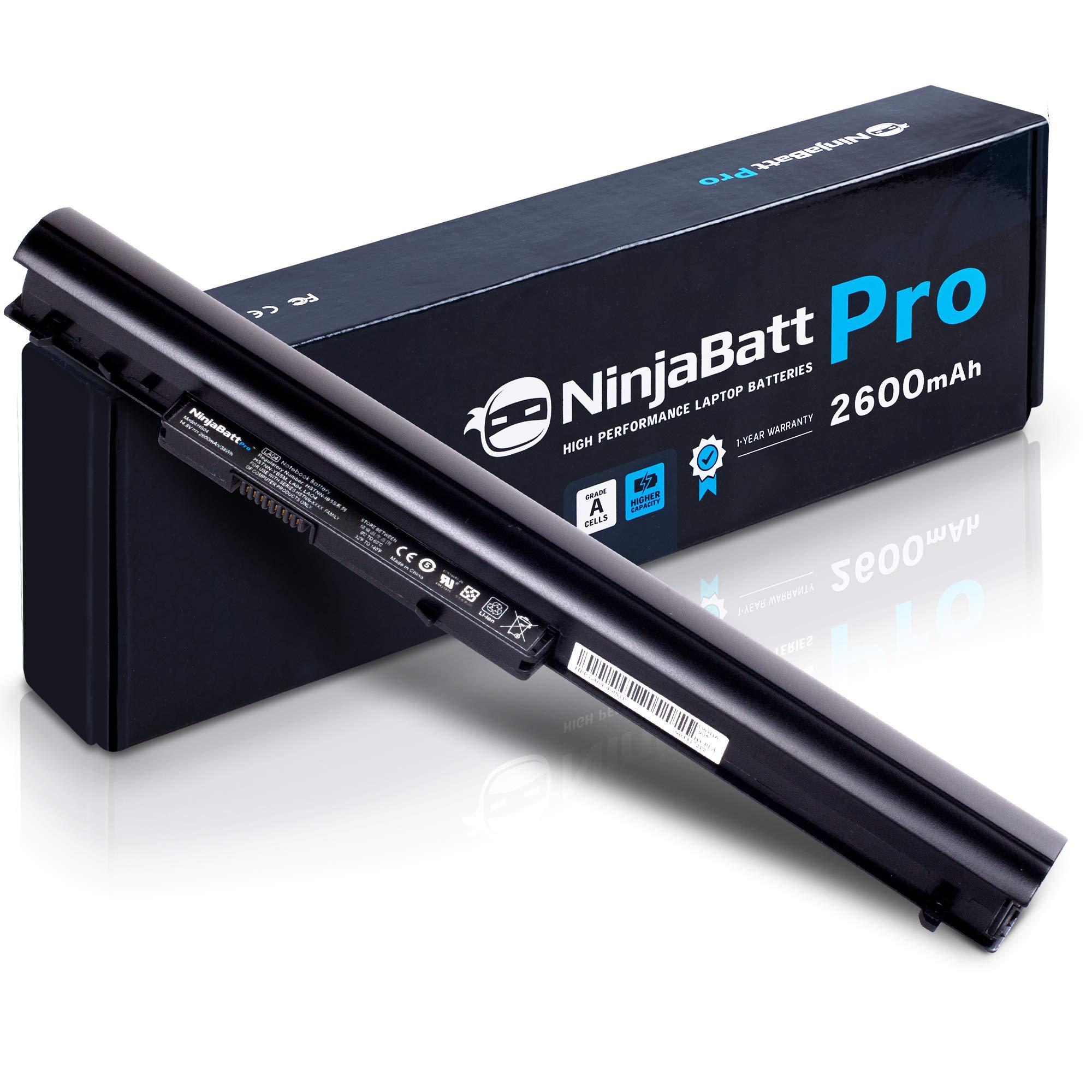 NinjaBatt Pro Laptop Battery for HP 776622-001 LA04 728460-001 752237-001 776906-001 TPN-Q130 TPN-Q132 HSTNN-LB5S HSTNN-UB5M HSTNN-UB5N HSTNN-IB6R LA03DF LA04DF - Samsung Cells - [4 Cells/2600mAh]