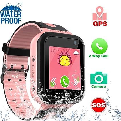 Amazon.com: Zqtech Smart Watch for Kids GPS Tracker - IP67 ...