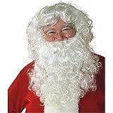 Sillycone Inc. Economy - Barba e parrucca di Babbo Natale, taglia unica