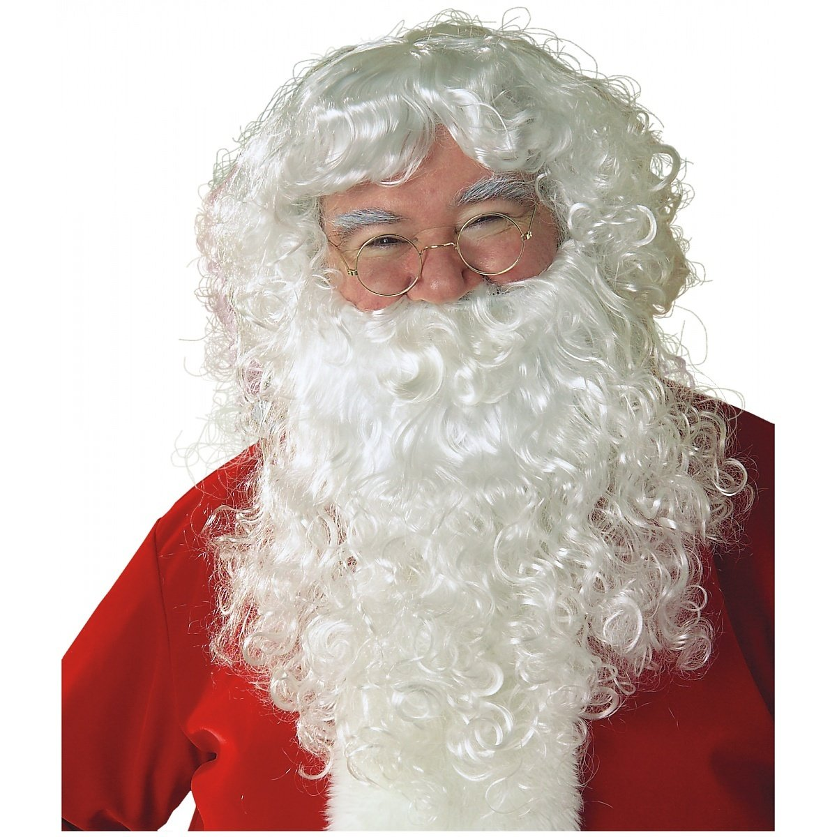 Economy Santa Beard & Wig Set Adult Santa Wig and Beard - ST Rubies Costume Co RB-2269