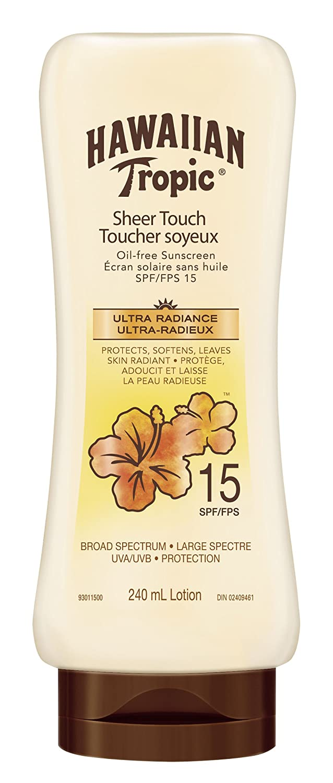 Hawaiian Tropic Sheer Touch Sunscreen Lotion SPF 15, 240ml