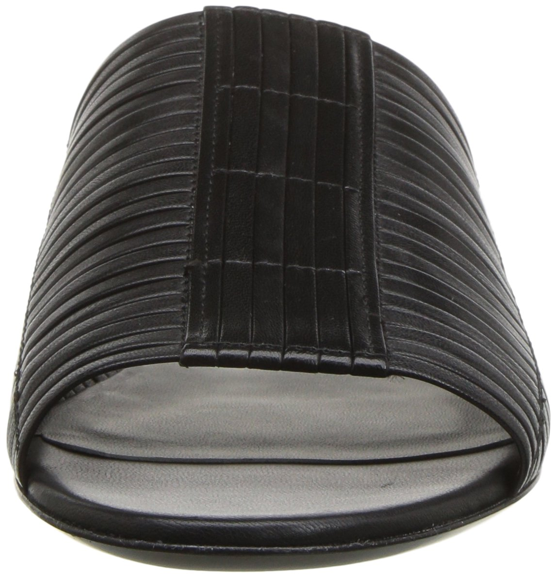 Via Spiga Women's Harlotte Woven Slide Sandal B0752XQRYD 9.5 B(M) US|Black Leather