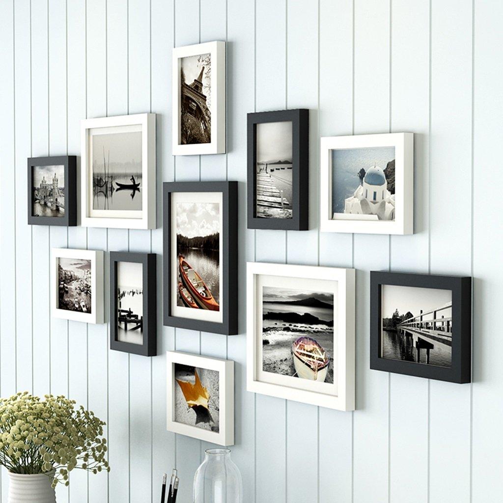 Amazon.de: Bilderrahmen Collage 11 Rahmen, Massivholzkombination ...