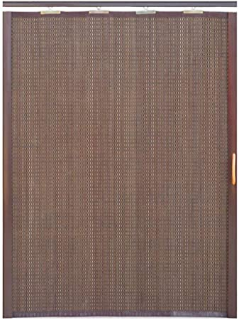 Jcnfa-Persianas Cortina De Bambu Puerta Corredera Plegable Sola Apertura Cortina De Particion Sala De Estar Cocina Dormitorio Balcón. Persiana Enrollable (Color : Black Brown, Size : W 85*H 220cm): Amazon.es: Hogar