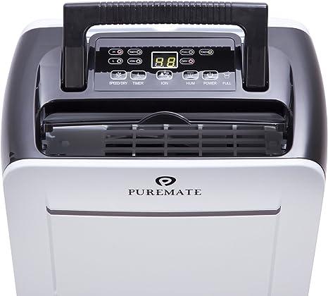 12 litros PureMate/® PM 412 deshumidificador port/átil con Ionizador