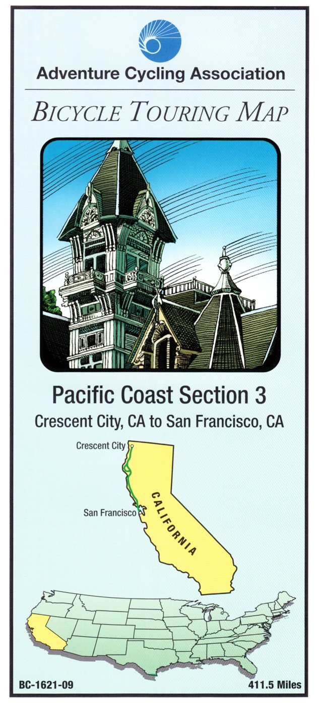 Bicycle Touring Map: Pacific Coast Section 5