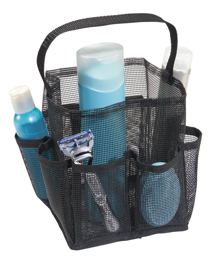 mDesign Mesh Basket for Bathrooms - Waterproof Shower Caddy with 9 ...