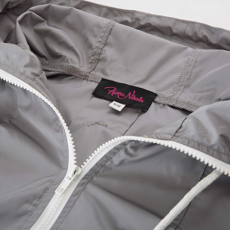 25d0cbe04 Hanna Nikole Women Waterproof Hooded Raincoat Plus Size Lightweight ...
