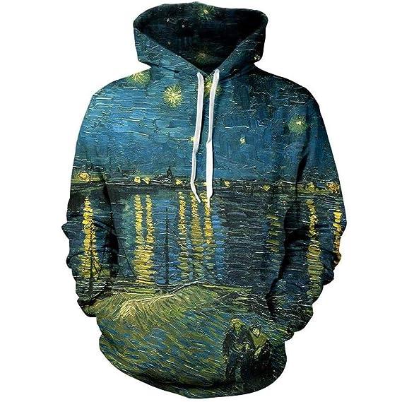 54d73f3c8 Van Gogh The Starry Night Hoodie Hommes Femmes Sportswear ...