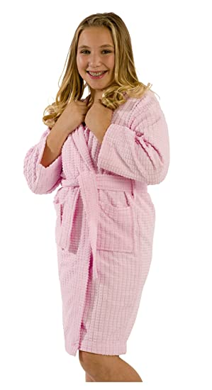 Unisex Boy's and Girl's Bathrobe, Size SMALL, PINK Robe