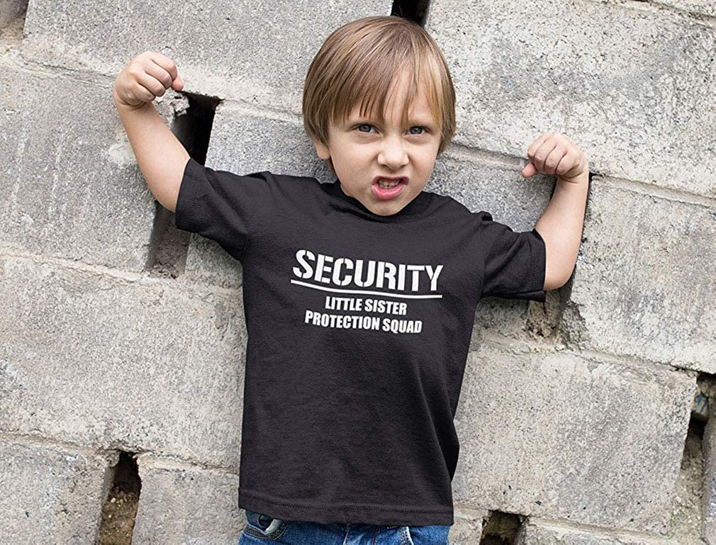 Gift for Big Brother Security for My Little Sister Kids T-Shirt with Stickers
