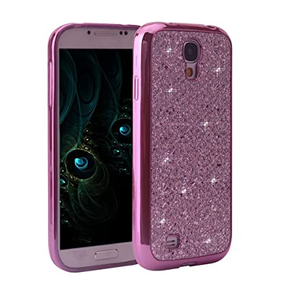 Asnlove Galaxy S4 Bling Case, Samsung S4 I9500 Funda Silicona Brillo, Cover Soft TPU Cáscara Protectora Bling Cover Sparkle Brillar Glitter Phone ...