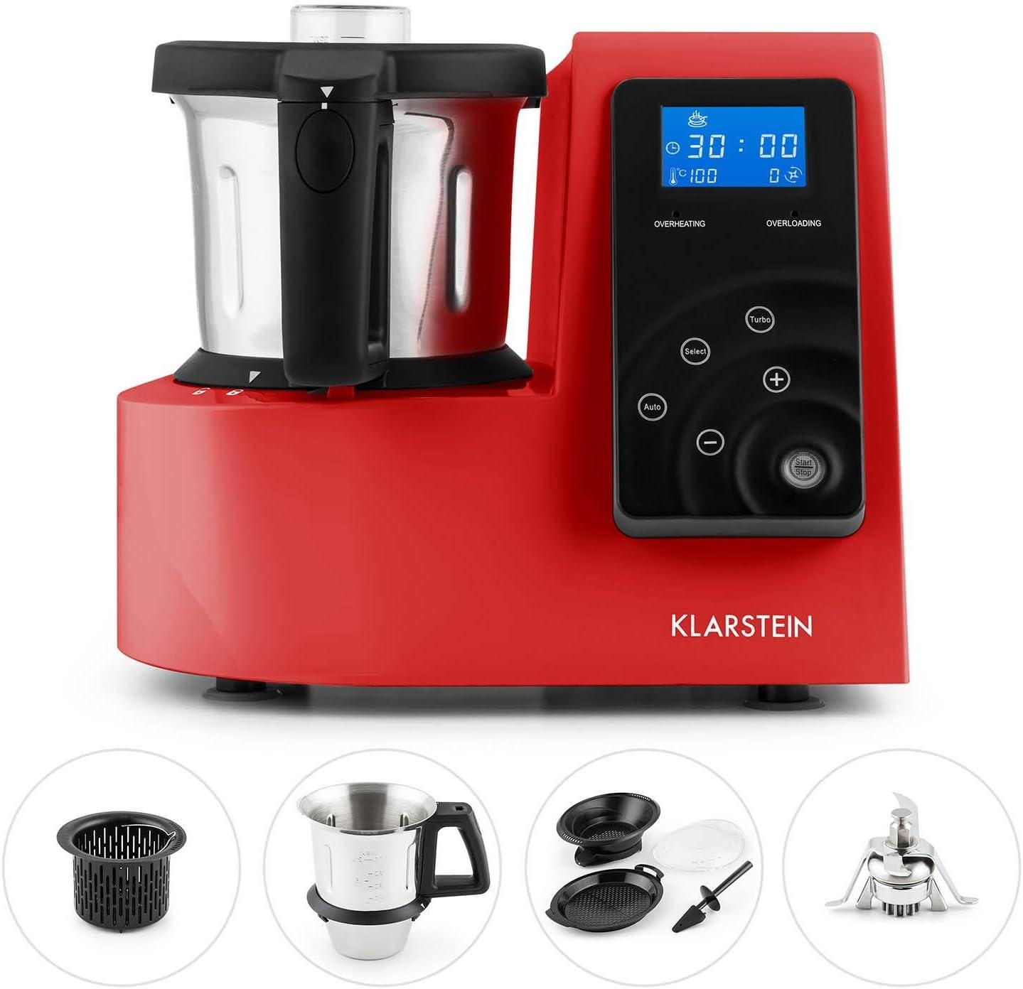 Klarstein Kitchen Hero - Robot de cocina rojo: Amazon.es: Hogar