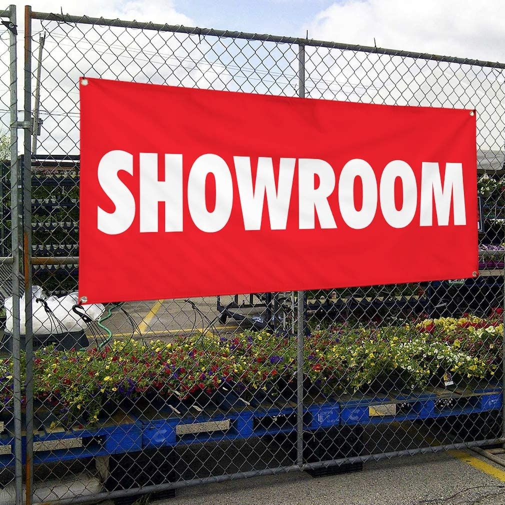 Multiple Sizes Available 24inx60in 4 Grommets Set of 3 Vinyl Banner Sign Showroom Trade Shows Showroom Outdoor Marketing Advertising Red