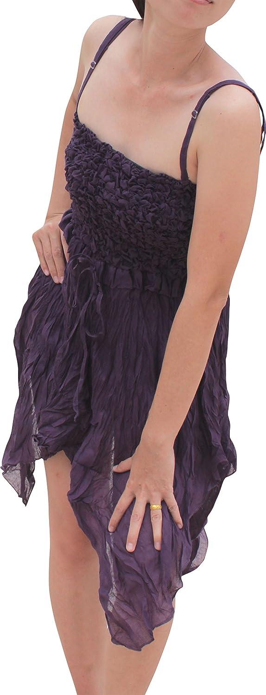 RaanPahMuang Cotton Light Gypsy Frill Front Crop Summer Dress Renaissance