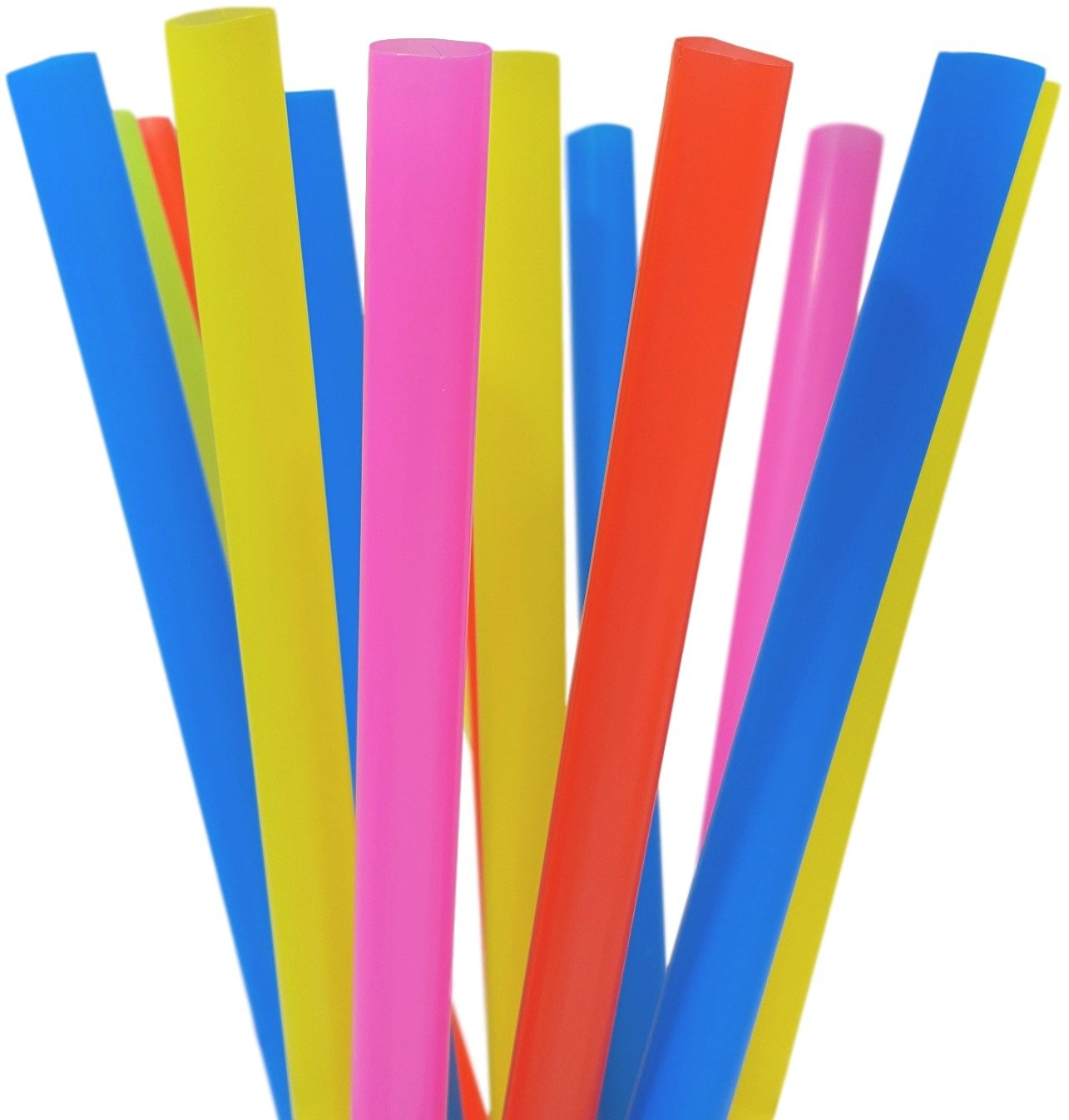 EXTRA LARGE Milkshake Straws 1/2 Inch Wide 8 1/2 Inch Long (500) by Rupert & Jeoffrey's Trading Co.
