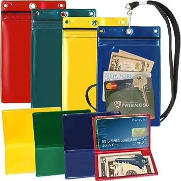 StoreSMART Hunter & Sportsman - Juego de 4 carteras de plástico con cremallera, 4 soportes