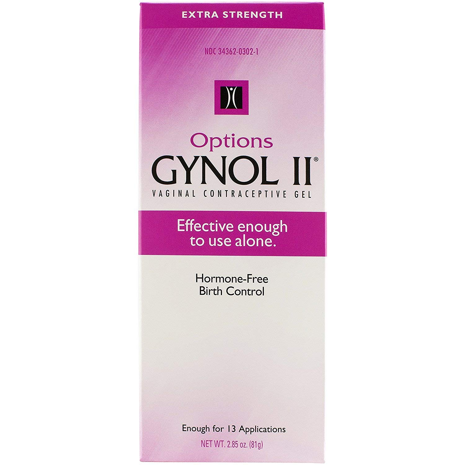 Options Gynol II Vagina Contraceptive Jelly Extra Strength - 2.85 oz, Pack of 3 by OPTIONS