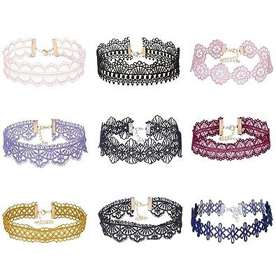 Mingjun 9 piezas Diseño de flores hueca de colores elegante de ...