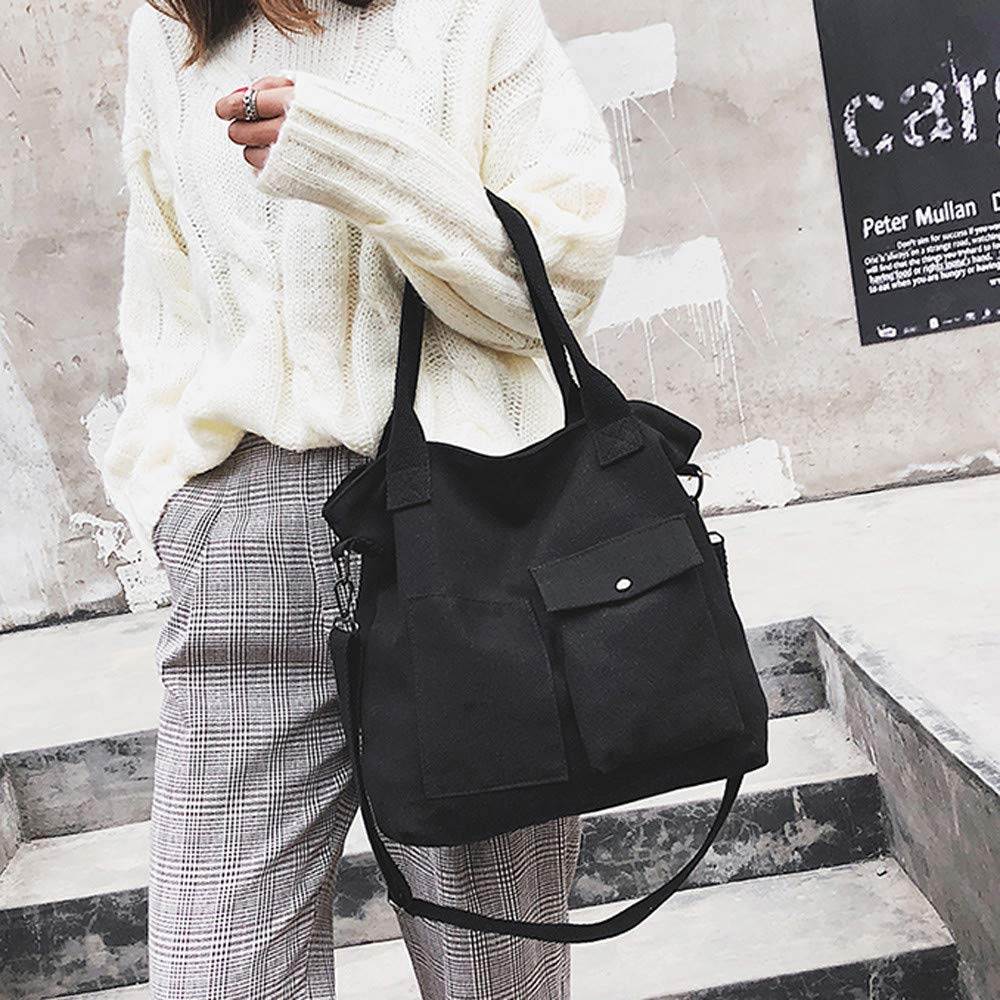 Fashion Bags Unisex Fashion Solid Soft Casual Totel Bag Canvas Bag Messenger Bag Shoulder Bag,Outsta 2019 Deals