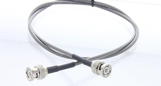 IEEE 802.3 thinnet RG58 BNC macho a BNC macho RF coaxial cable de antena 100 FT (gris) | RG-58 thinnet Jumper, fabricado en el Estados Unidos por MPD ...