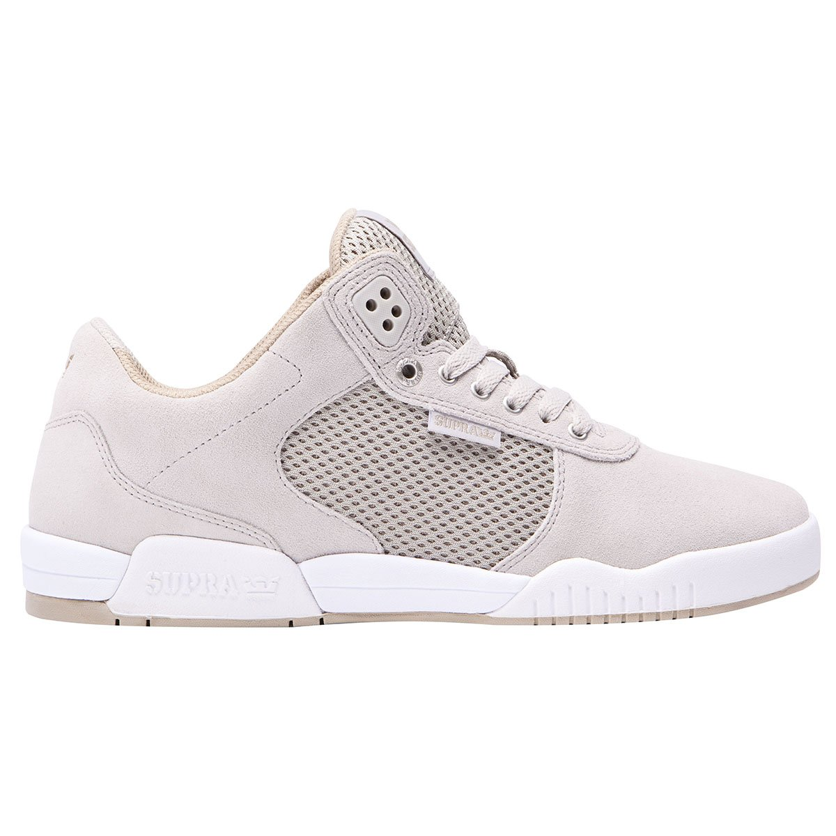 b5b332199d7b Galleon - Supra Mens Ellington Shoes Size 10 Light Grey - White