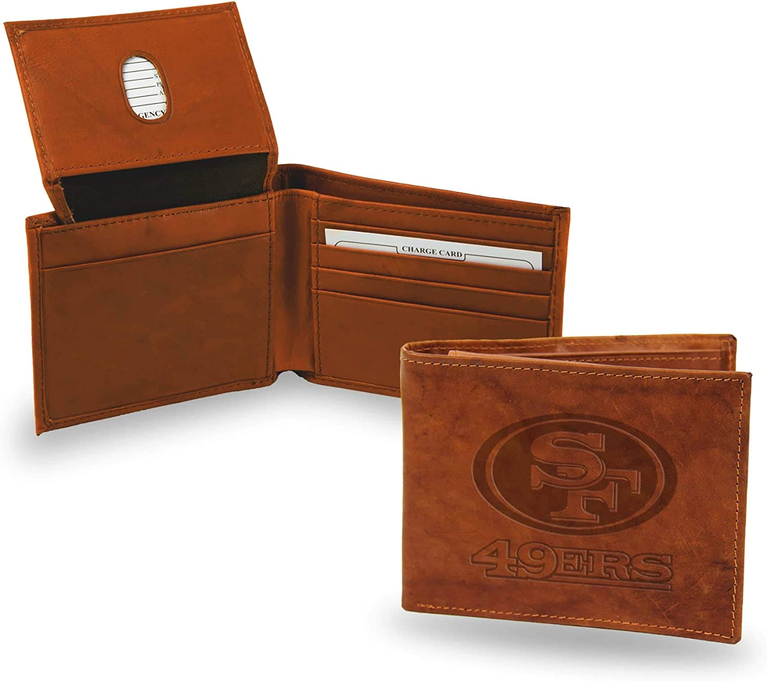 NFL San Francisco 49ers Embossed Genuine Cowhide Leather Passcase