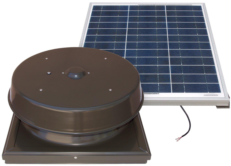 Natural Light 60-Watt Curb Mount Solar Attic Fan - Bronze by Natural Light