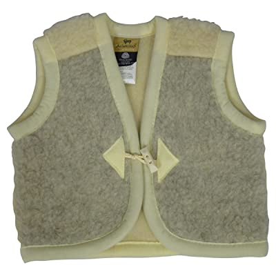 Alwero Children's Wooly Vest, Grey/Beige