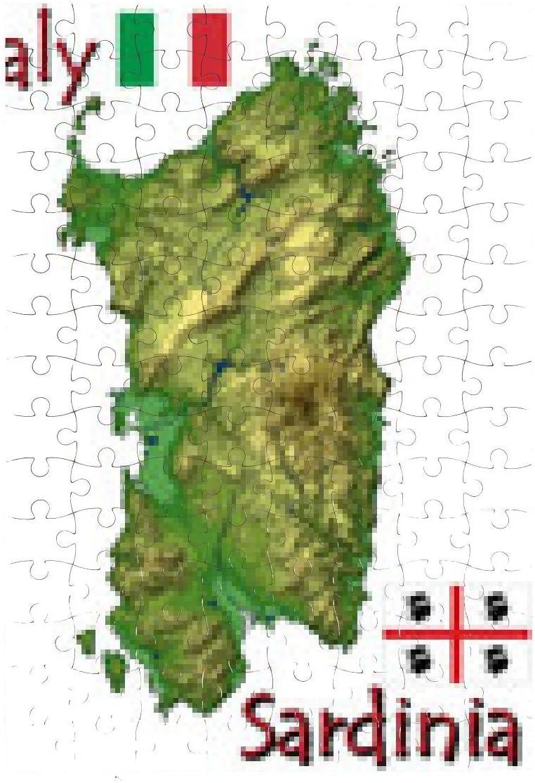 Cartina Sardegna Formato A4.Puzzle Sardegna Italia Europa Emblema Nazionale Mappa Simbolo Motto Gli Altri Vedi Elenco Qui Sotto Amazon It Giochi E Giocattoli