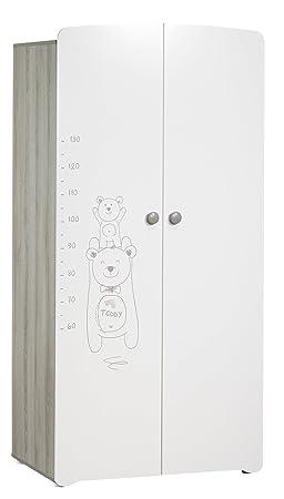 BABY PRICE Teddy Armoire Chambre Bébé 2 Portes: Amazon.fr: Bébés ...