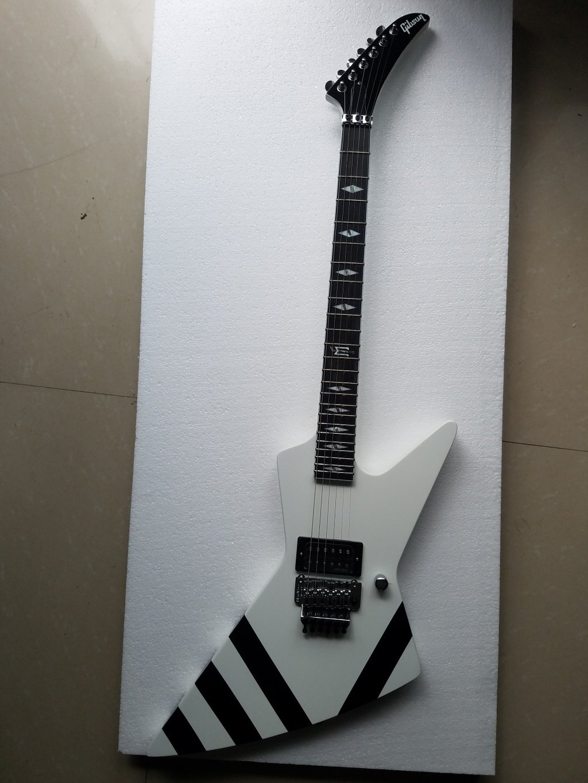 dommenget Explorer 90 Custom guitarra eléctrica floydrose Trémolo blanco color: Amazon.es: Instrumentos musicales