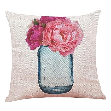 Amazon.com: DATAIYANG Home Decor Cushion Cover Hello Spring ...