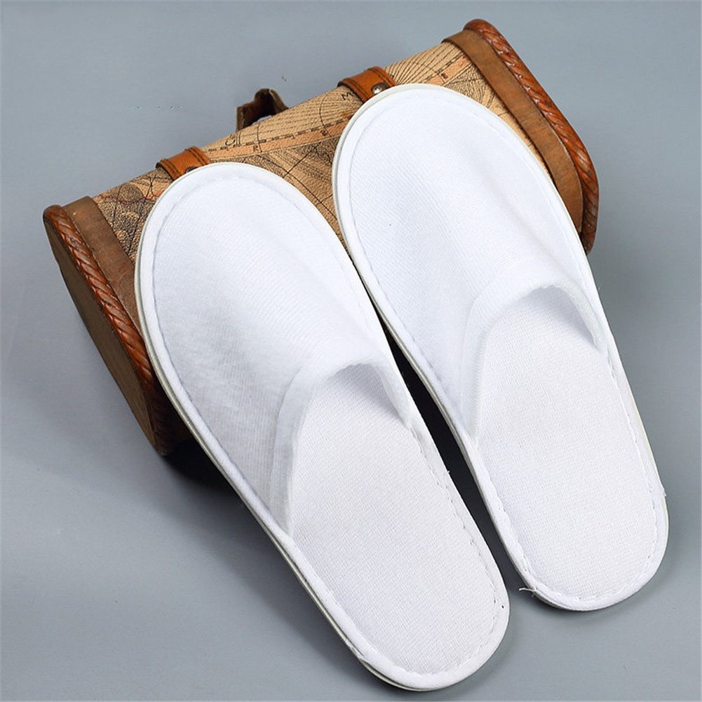 Spa & Hotel Disposable Slippers Closed Toe Slippers Beauty Club Travel indoor Slippers, C, 100 pairs